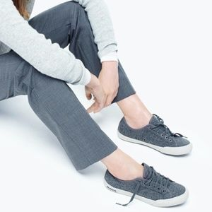 SeaVees Heather Gray Wool Lace Up Sneakers 7